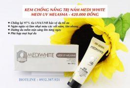 Kem chống nắng trị nám Medi White có tốt không?
